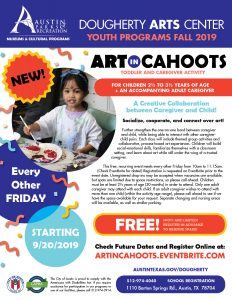 Art in Cahoots, Fall 2019