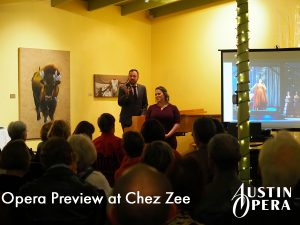 Opera Preview at Chez Zee - Austin Opera
