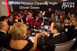 The Jeanette Nassour Opening Night Dinner Series — Austin Opera