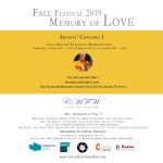 "CMFW Fall Festival 2019: ""Memory of Love"", Artists' Concert I"