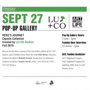 Hero's Journey Pop-Up Gallery & Fashion Hour Interview