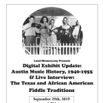 Local-Memory: Digital Exhibit Update and Live Interview Recording