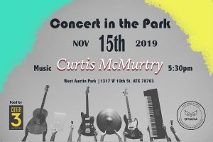 Concert in West Austin Park with Curtis McMurtry