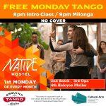 Monday Tango Night at Native Hostel/ Free Intro Tango Class