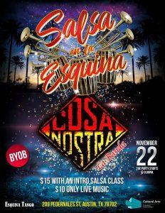 "Salsa Night with ""J Bobadilla & Cosa Nostra Li..."