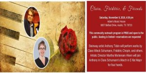 Austin Chamber Ensemble presents Clara, Frederic and Friends