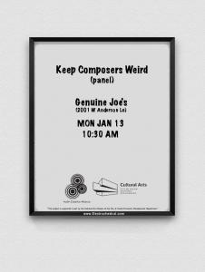 Keep Composers Weird 2020 panel