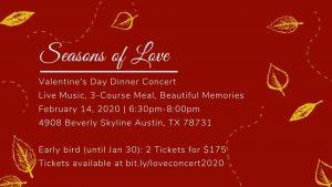 Seasons Of Love Valentine's Day Dinner Concert