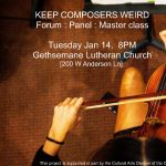 Workshop : Master Class for Keep Composers Weird