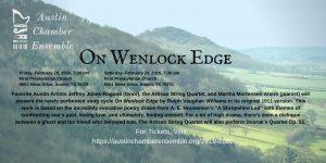 Austin Chamber Ensemble presents On Wenlock Edge