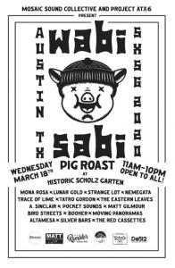 Wabi Sabi Pig Roast at Historic Scholz Garten