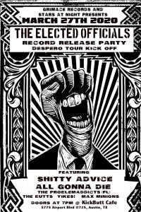 The Elected Officials/Despero Record Release Tour Kick Off Show