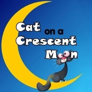 Cat on a Crescent Moon