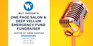 WLT Presents One Page Salon & Deep Vellum Emer...
