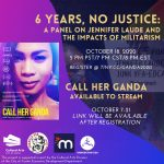 6 Years, No Justice: A Panel on Jennifer Laude and the Impacts of Militarism