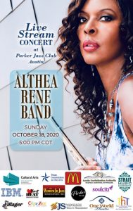 Althea Rene Band Live Stream Concert at Parker Jazz Club Austin