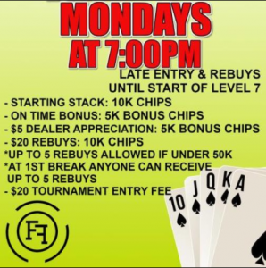 Monday Night NLH Freeroll Tournament $2,000 Guaran...