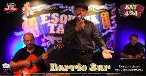 Noche de Tango with Barrio Sur, acoustic style! (Outdoor event)