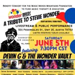 MMMF Benefit Concert & Livestream: Tribute to Stevie Wonder with Devin G & the Wonder Vault