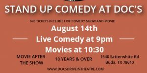 Live Stand up Comedy & a Movie at Doc's Drive ...
