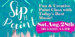 Sip n Paint - Fun and Creative Happy Hour! 8.28
