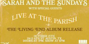 Sarah and the Sundays Album Release at The Parish - 10/15