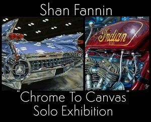 """Chrome to Canvas"" A Solo Art Exhibition by Re..."
