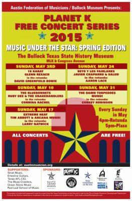 AFM/Bullock Museum Present: Planet K Free Concert Series 2015
