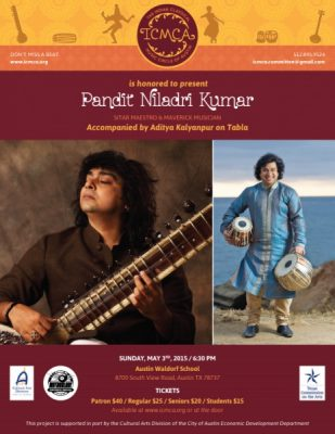 A Sitar Recital by Maestro Niladri Kumar