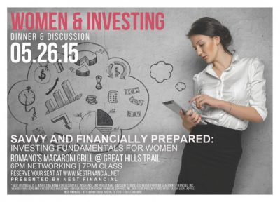 Savvy and Financially Prepared: Investing Fundamentals Dinner & Discussion for Women