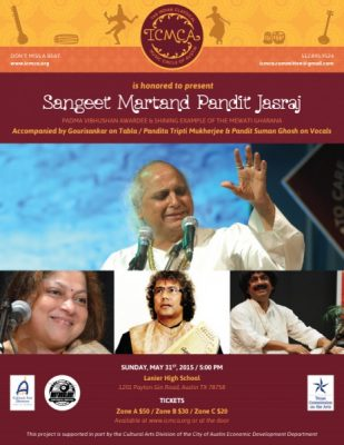 Indian Classical Vocal Recital by Pandit Jasraj