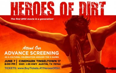 HEROES OF DIRT - BMX movie screening to celebrate XGAMES