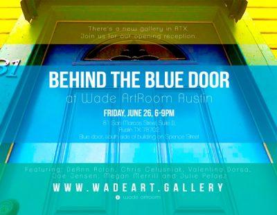 Art Reception - Behind the Blue Door