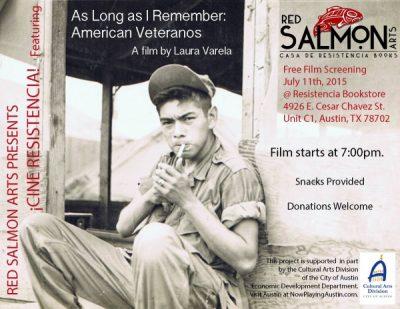 Cine Resistencia: As Long as I Remember: American Veteranos