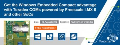 Get the Windows Embedded Compact Advantage with Toradex COMs powered by Freescale iMX6 & other SoCs