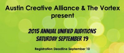 2015 Annual Unified Auditions (Registration for Actors)