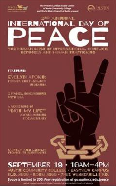 International Day of Peace: The Human Cost of International Conflict: Refugees and Trafickking