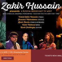 ICMCA presents Ustad Zakir Hussain - A Musical Bridge East to West with a Magical Ensemble!