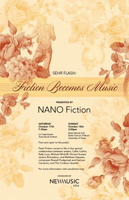 Sehr Flash: Fiction Becomes Music