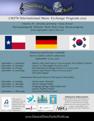 Classical Music for the World International Music Exchange Program 2015