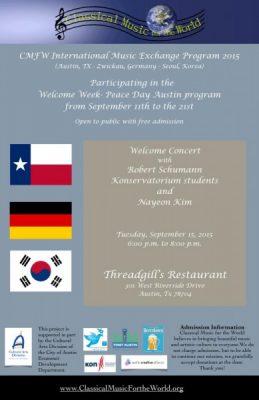 Welcome Concert with Robert Schumann Konservatoriu...