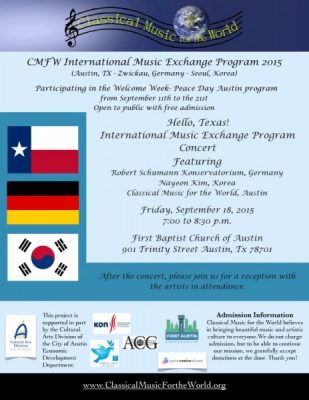 Hello, Texas! International Music Exchange Program Concert