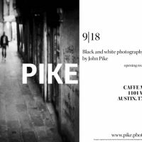 Black and White photography by John Pike at Caffe Medici