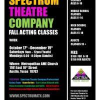 Spectrum Theatre Fall Acting Institute