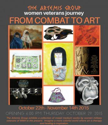 """""""From Combat to Art: Women Veterans Journey"""" Exhibit Opening"""