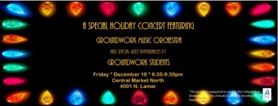 Groundwork Music Orchestra Holiday Concert featuring Groundwork Students