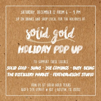 Holiday Pop Up at Solid Gold