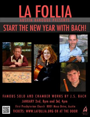 "La Follia Austin Baroque presents ""Start the New Year with Bach"""