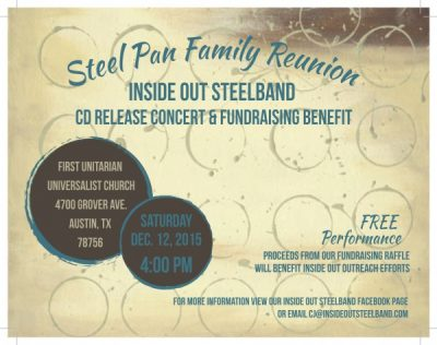 "Inside Out ""Steel Pan Family Reunion"" CD Release Concert"