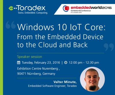 Windows 10 IoT Core: From the Embedded Device to the Cloud and Back